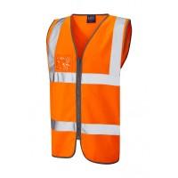 Leo Workwear Rumsam Class 2 Orange Zip Front Hi Vis Waistcoat