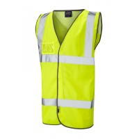 Leo Workwear Velator Class 2 Yellow Mesh Back Waistcoat