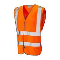 Leo Workwear Arlington Class 2 Orange Hi Vis CoolViz Waistcoat