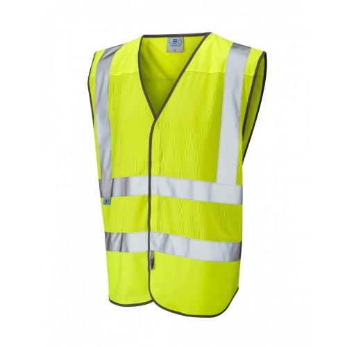 Leo Workwear Arlington Class 2 Yellow Hi Vis CoolViz Waistcoat