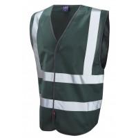 Leo Workwear Pilton Bottle Hi Vis Reflective Waistcoat