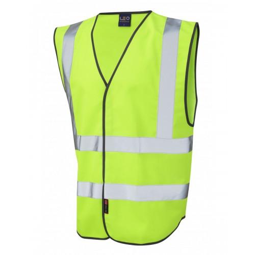 Leo Workwear Pilton Lime Hi Vis Reflective Waistcoat