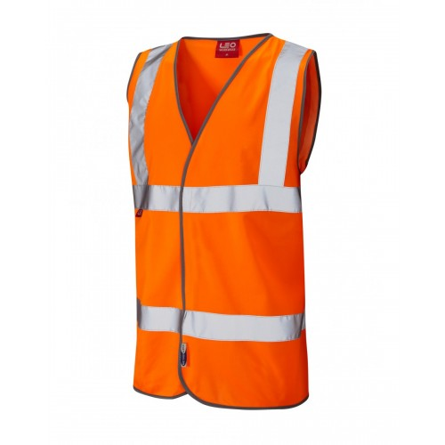 Leo Workwear Dolton Class 2 Orange LFS Hi Vis Waistcoat