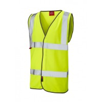 Leo Workwear Dolton Class 2 Yellow LFS Hi Vis Waistcoat