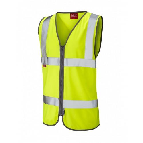 Leo Workwear Huntshaw Class 2 Yellow LFS Hi Vis Waistcoat