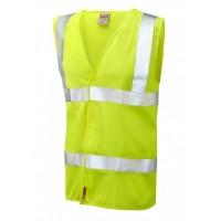 Leo Workwear Milford Class 2 Yellow LFS Hi Vis Sleeved Waistcoat
