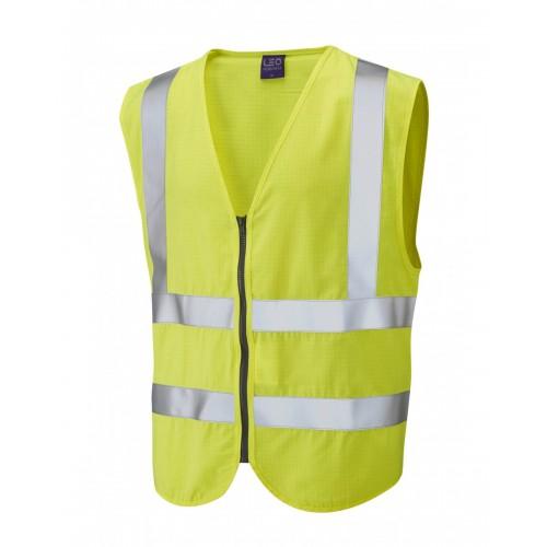 Leo Workwear Harracott Class 2 FR/AS Yellow Waistcoat