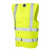 Leo Workwear Rackenford Class 2 Yellow Underground Railway Waistcoat