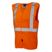 Leo Workwear Chapelton Class 2 GO/RT Orange Underground Railway Waistcoat