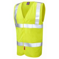 Leo Workwear Clifton Class 2 LFS Anti Static Orange Hi Vis Waistcoat