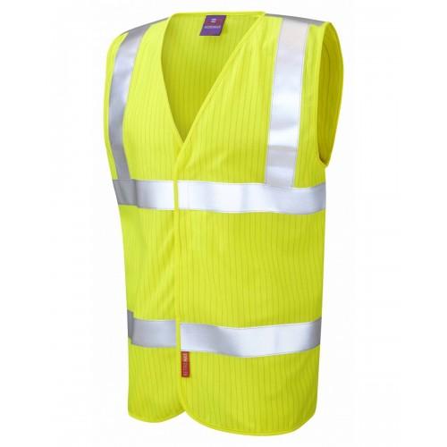 Leo Workwear Clifton Class 2 LFS Anti Static Orange Hi Vis Waistcoat