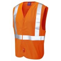Leo Workwear Muddiford Class 2 GO/RT Orange Railways Waistcoat