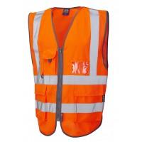 Leo Workwear Barnstaple Class 2 GO/RT Orange Superior Hi Vis Waistcoat