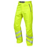 Leo Workwear Landcross Class 1 Yellow Hi Vis Stretch Work Trouser
