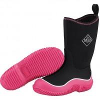 Muck Boots Kids Hale Black/Pink Wellingtons