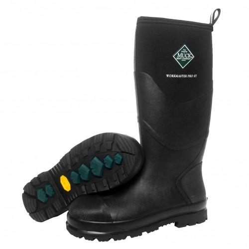 a2eb060444e Muck Boots Workmaster Pro Black Steel Toe Cap Wellingtons