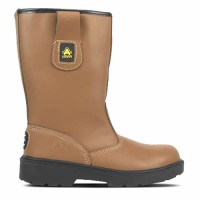 Amblers FS124 Tan Pull On Safety Rigger Boots