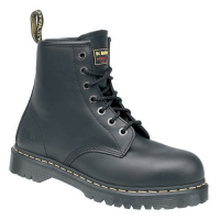 Dr Martens Icon Black Leather Ankle Safety Boots 6601