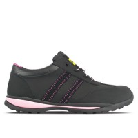 Amblers FS47 Black/Pink Ladies Safety Trainers