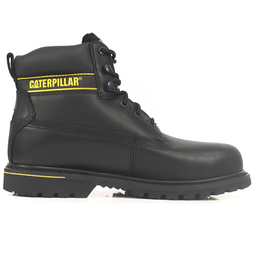 CAT Holton SB Black Steel Toe Safety Boots