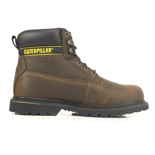 CAT Holton SB Brown Steel Toe Safety Boots