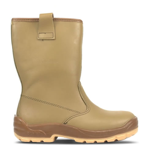 Jallatte J0266 Jalaska Tan leather Rigger Boot with Steel Toe Caps