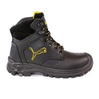 Puma Borneo Black Mid Safety Boots with Composite Toe Cap
