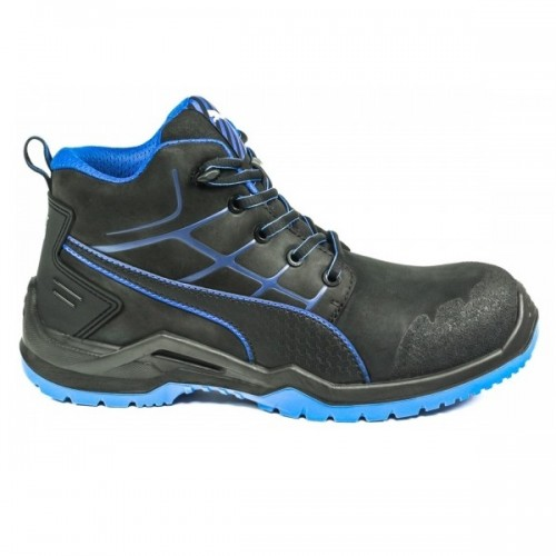 Puma Krypton Blue Mid Safety Boots with Fiberglass Toe Caps