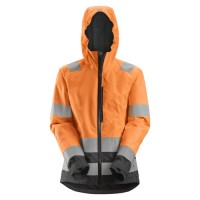 Snickers 1347 AllRoundWork Women's High Vis Waterproof Shell Jacket
