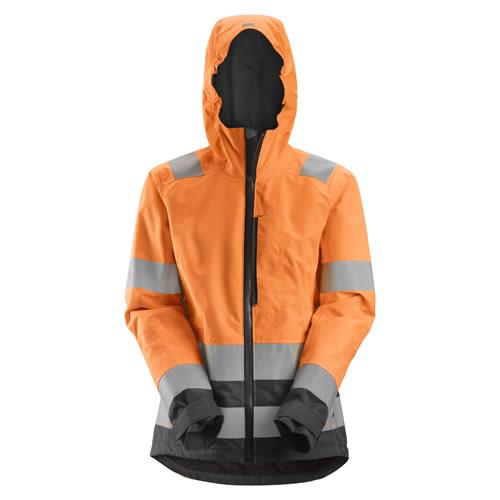Snickers 1347 AllRoundWork Women's High Vis Waterproof Shell Jacket