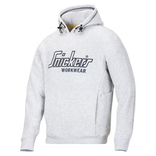 Snickers 2808 Hoodie Sweatshirt Grey