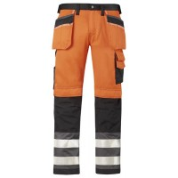 Snickers Hi Visibility Work Trousers 3233