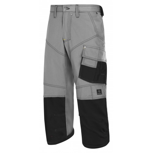 Snickers 3913 Rip-stop Pirate Trousers Grey