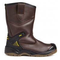 Apache AP305 Brown Water Resistant Rigger Steel Toe Caps and Midsole