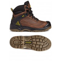 Apache Ranger Brown Safety Boots Steel Toe Cap & Composite Midsole