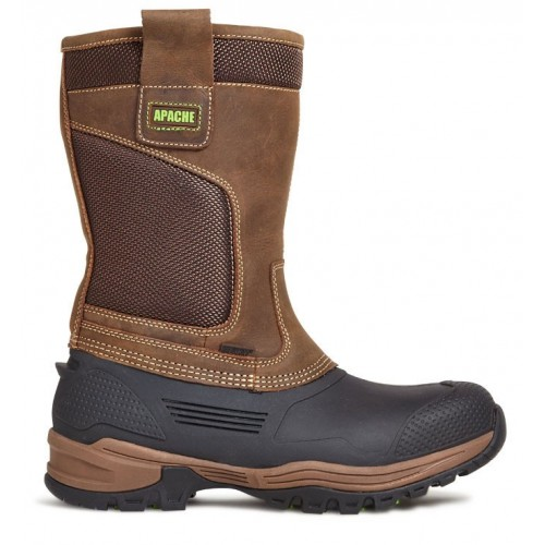 Apache Traction Waterproof Rigger Boots Steel Toe Caps and Midsole