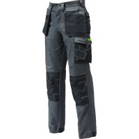 Apache APPRO Twill Cargo Workwear Cordura Trousers Kneepad Holster Pockets Grey -Black