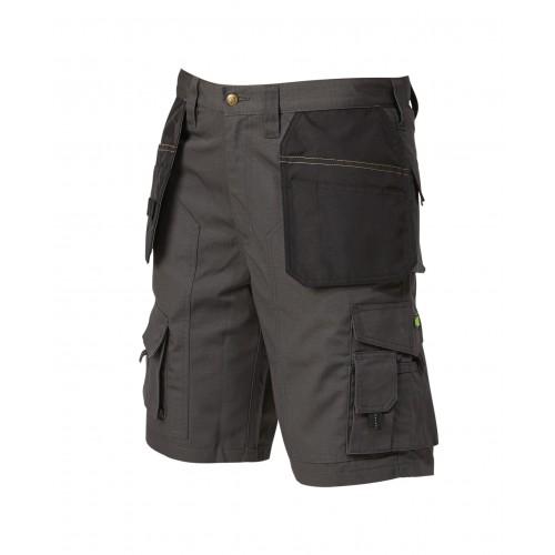 Apache Grey/ Black Lightweight Cargo Workwear Shorts