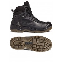 Apache Ranger Black Safety Boots Steel Toe Cap & Composite Midsole