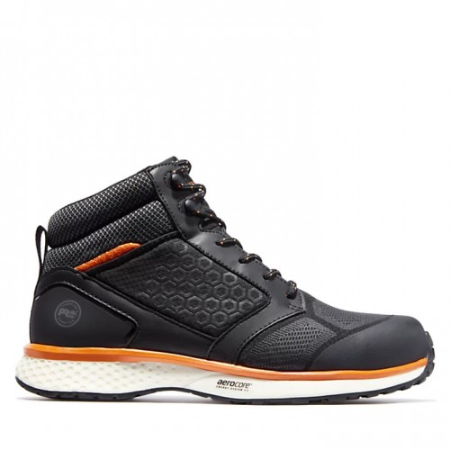 Timberland Pro Reaxion Black/Orange Safety Boots