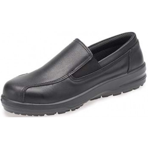 Catering Ladies Black Slip On Safety Shoes ABS133PR