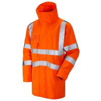 Leo Workwear Clovelly Orange Hi Vis Anorak