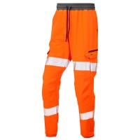 Leo Workwear Hawkridge Orange Hi Vis Jogging Trouser