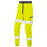 Leo Workwear Hawkridge Yellow Hi Vis Jogging Trouser
