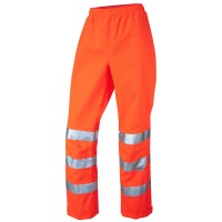 Leo Workwear Hannaford Orange Hi Vis Ladies Overtrouser