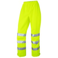 Leo Workwear Hannaford Yellow Hi Vis Ladies Overtrouser