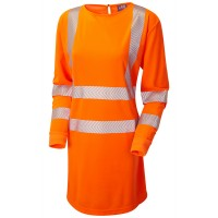 Leo Workwear Coolviz Plus Orange Modesty Tunic