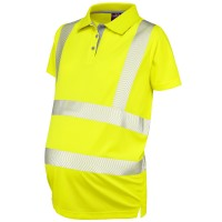 Leo Workwear Lovacott Coolviz Plus Yellow Maternity Polo Shirt