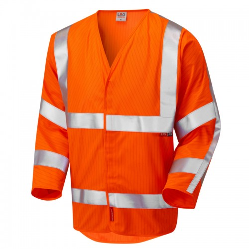 Leo Workwear Sticklepath Orange 3/4 Sleeved Waistcoat