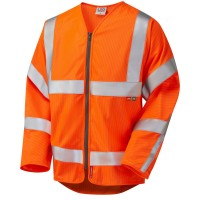 Leo Workwear Huish Orange Sleeved Zip Waistcoat